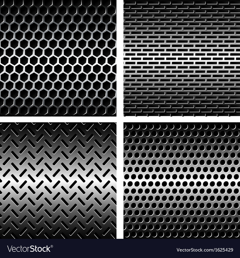 Seamless texture metal grids background vector | Price: 1 Credit (USD $1)