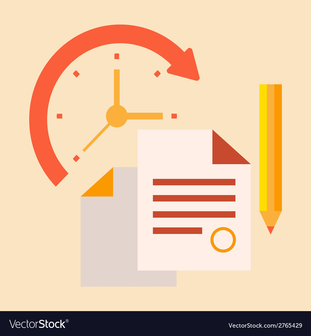 Time office work vector | Price: 1 Credit (USD $1)