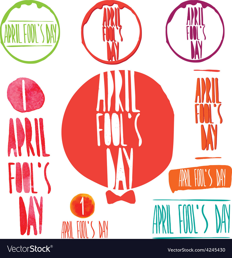 April fool day vector | Price: 1 Credit (USD $1)