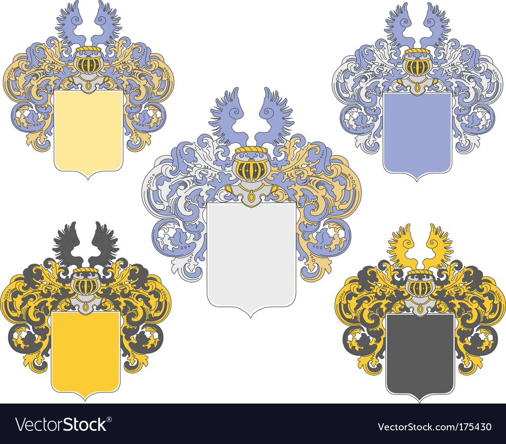 Coat of arms 3 colored vector | Price: 1 Credit (USD $1)