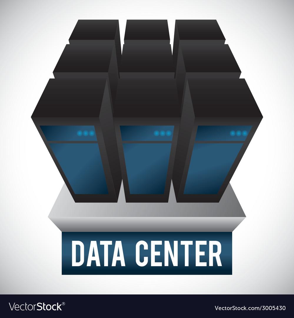 Data center design vector | Price: 1 Credit (USD $1)