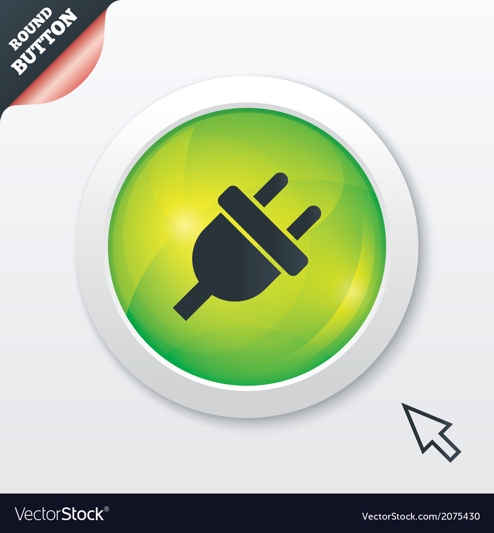 Electric plug sign icon power energy symbol vector | Price: 1 Credit (USD $1)