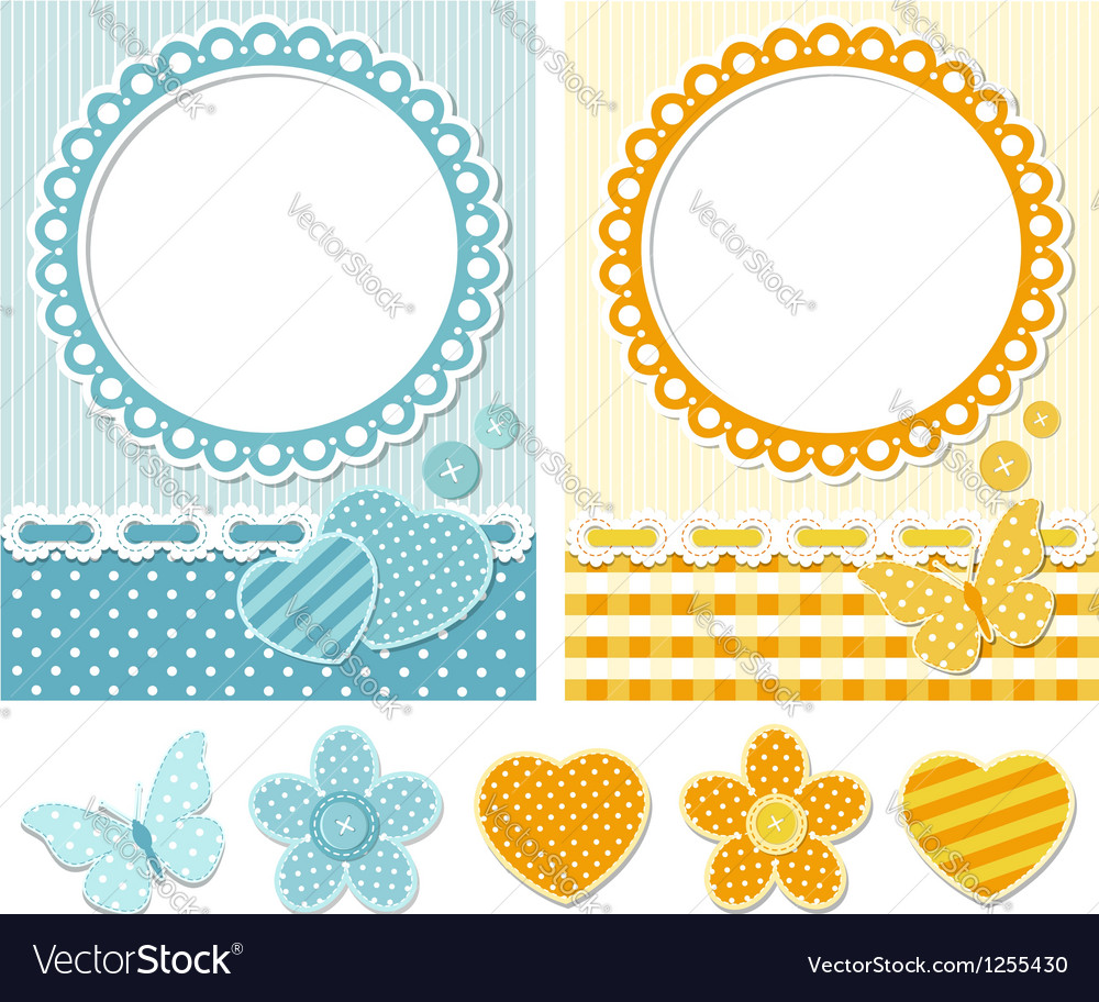 Fabric scrapbook set vector | Price:  Credit (USD $)