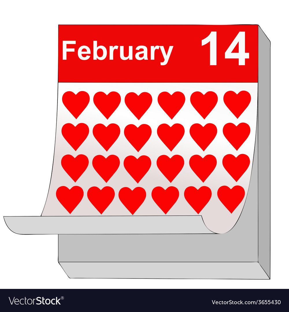 February 14 valentines day the day of love vector | Price: 1 Credit (USD $1)