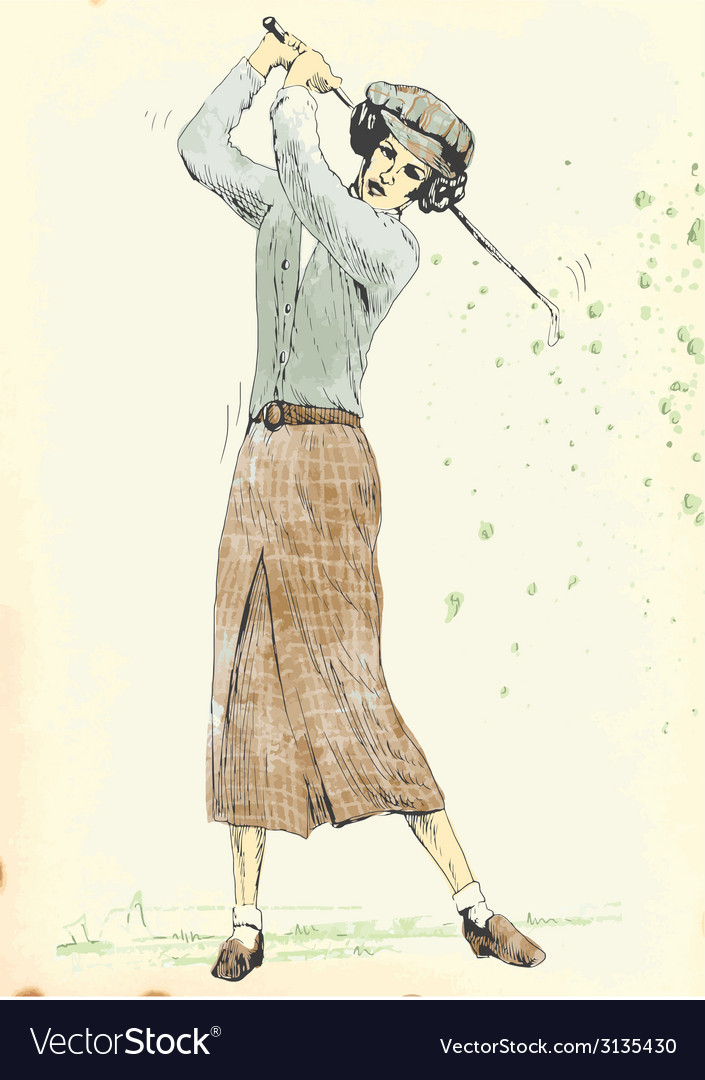 Hand drawing - golf player vector   Price: 1 Credit (USD $1)