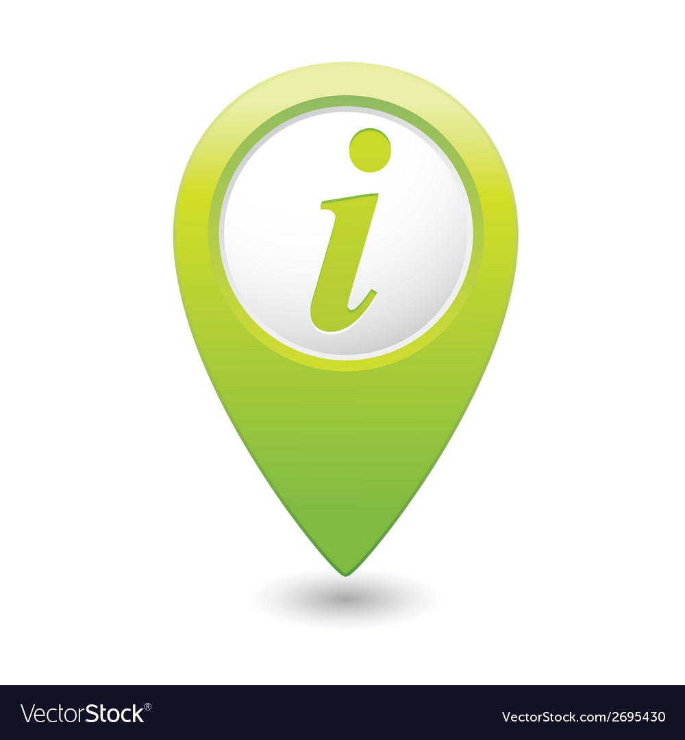 Information icon green map pointer vector | Price: 1 Credit (USD $1)