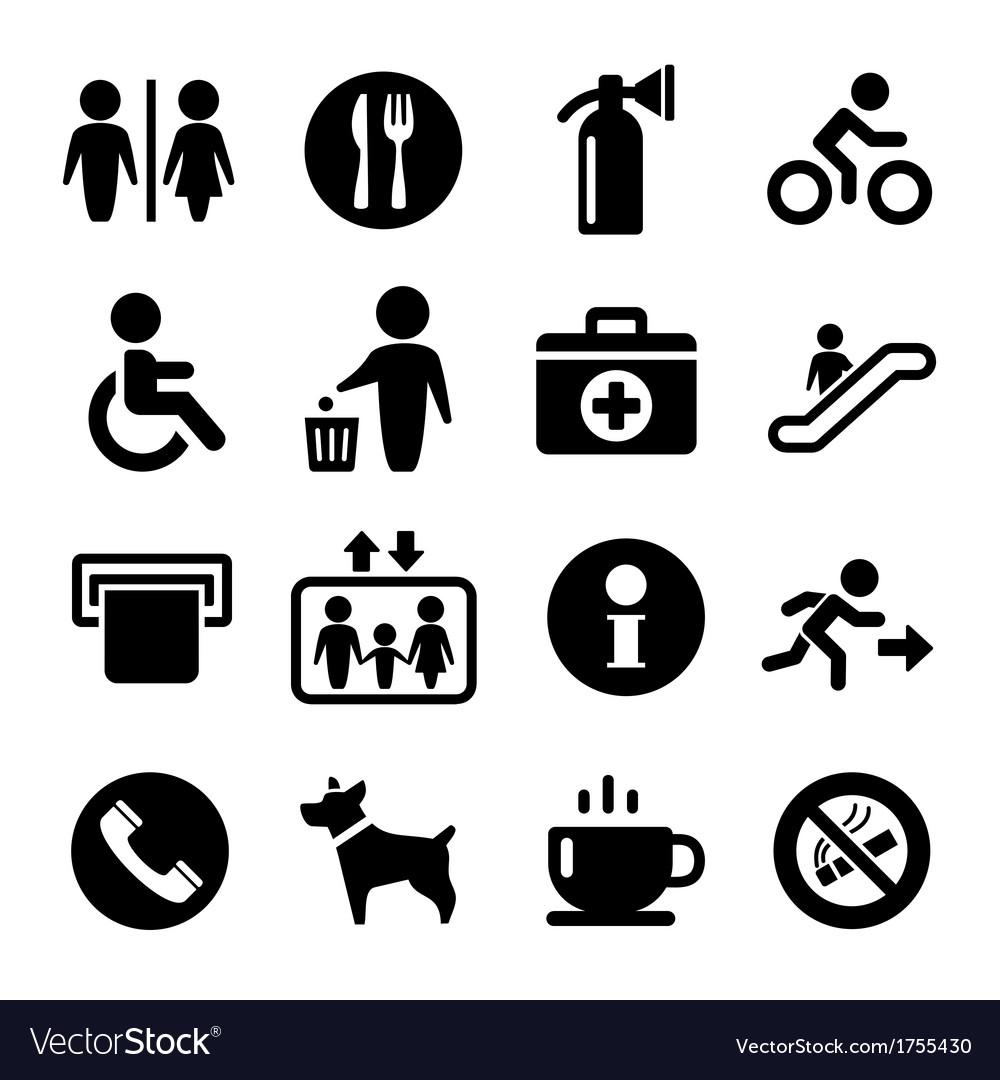 International service signs icon set vector | Price: 1 Credit (USD $1)