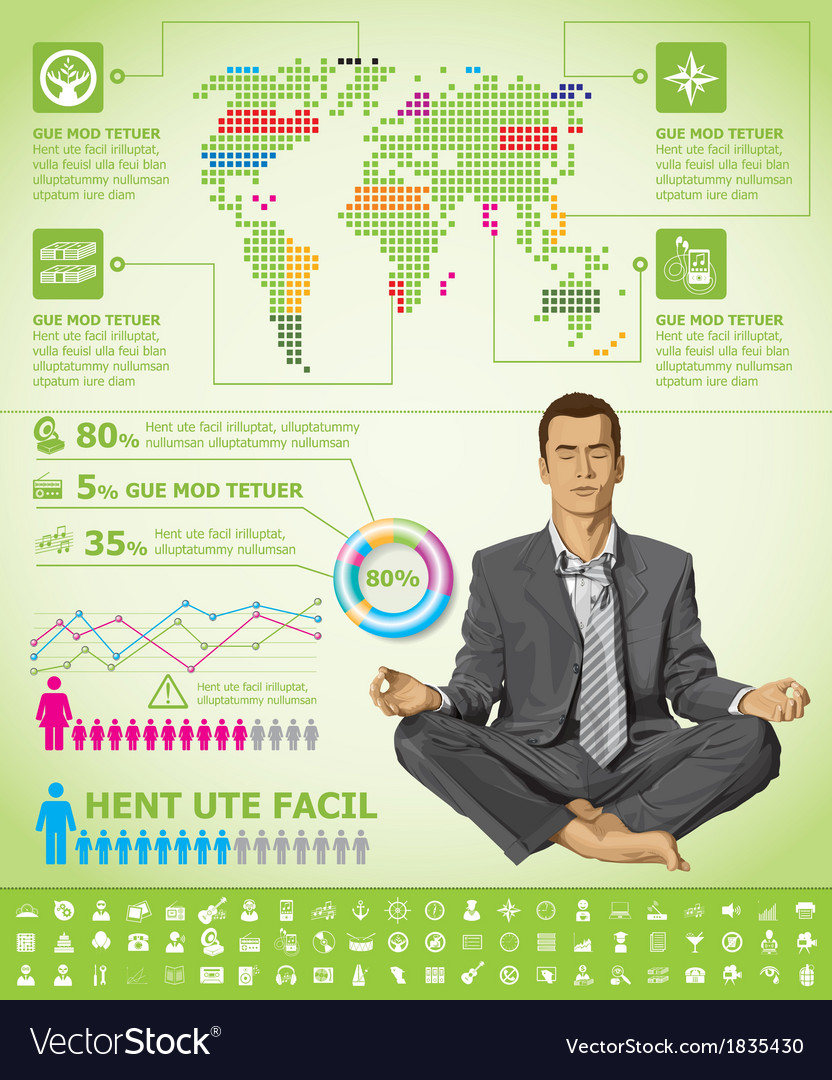 Meditation vector   Price: 3 Credit (USD $3)