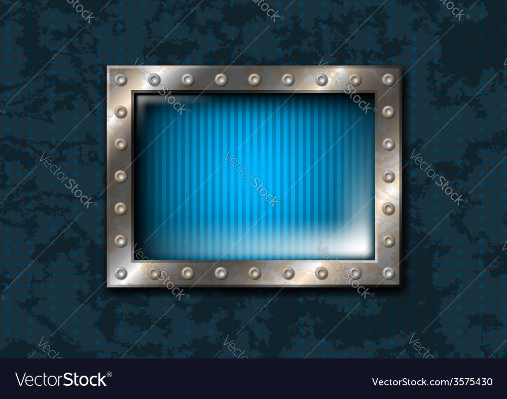 Metal window with rivets vector | Price: 1 Credit (USD $1)