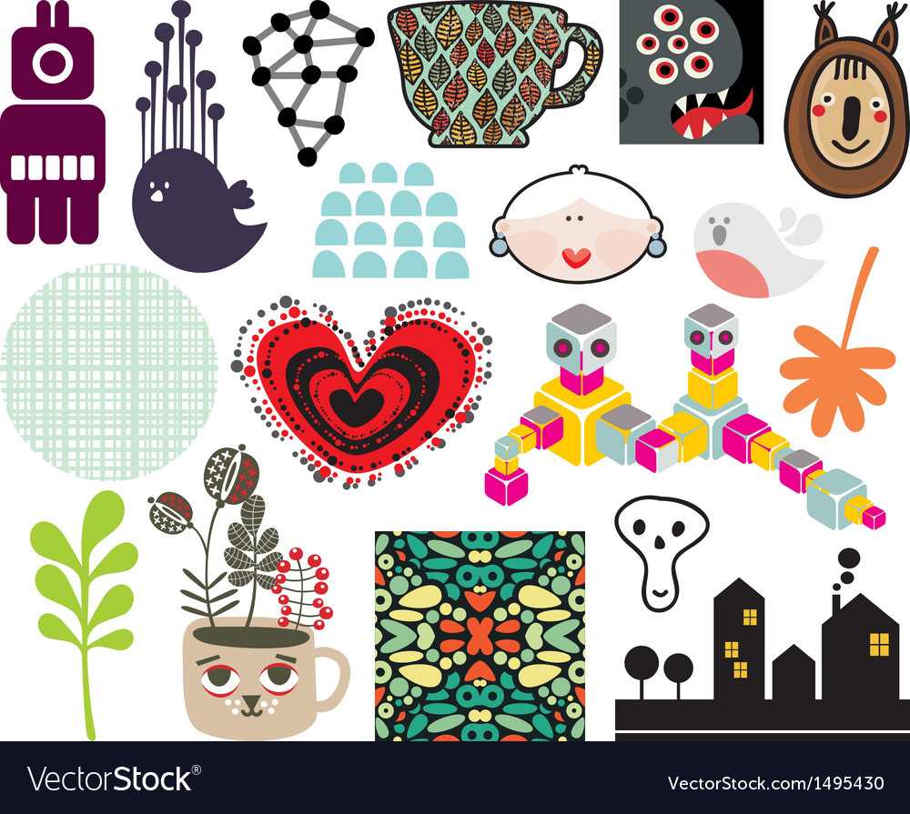 Mix of different images and icons vol68 vector | Price: 1 Credit (USD $1)