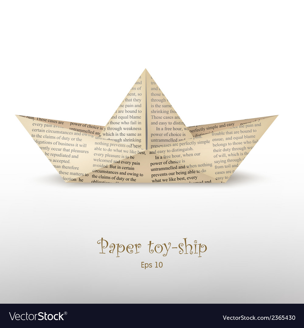 Origami boat vector | Price: 1 Credit (USD $1)