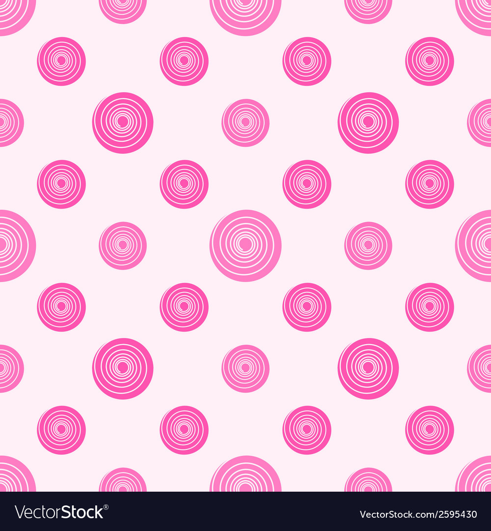 Pink polka dot seamless pattern vector | Price: 1 Credit (USD $1)