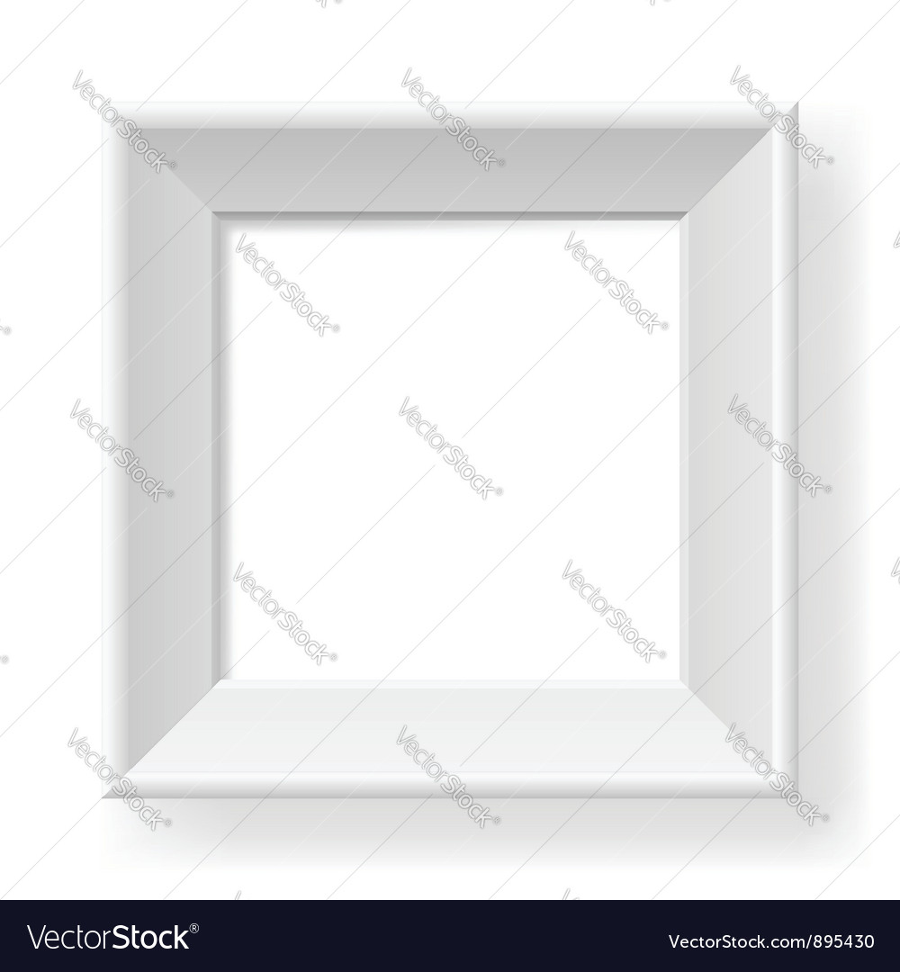 Realistic white frame vector | Price: 1 Credit (USD $1)