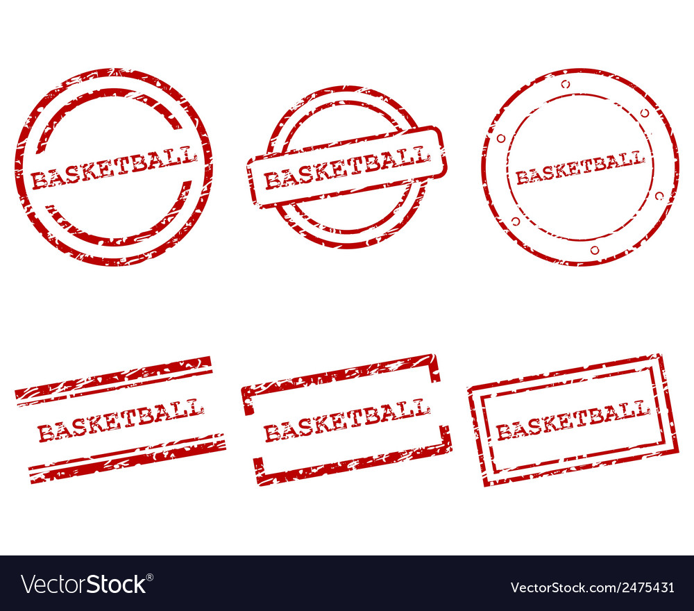 Basketball stamps vector | Price: 1 Credit (USD $1)