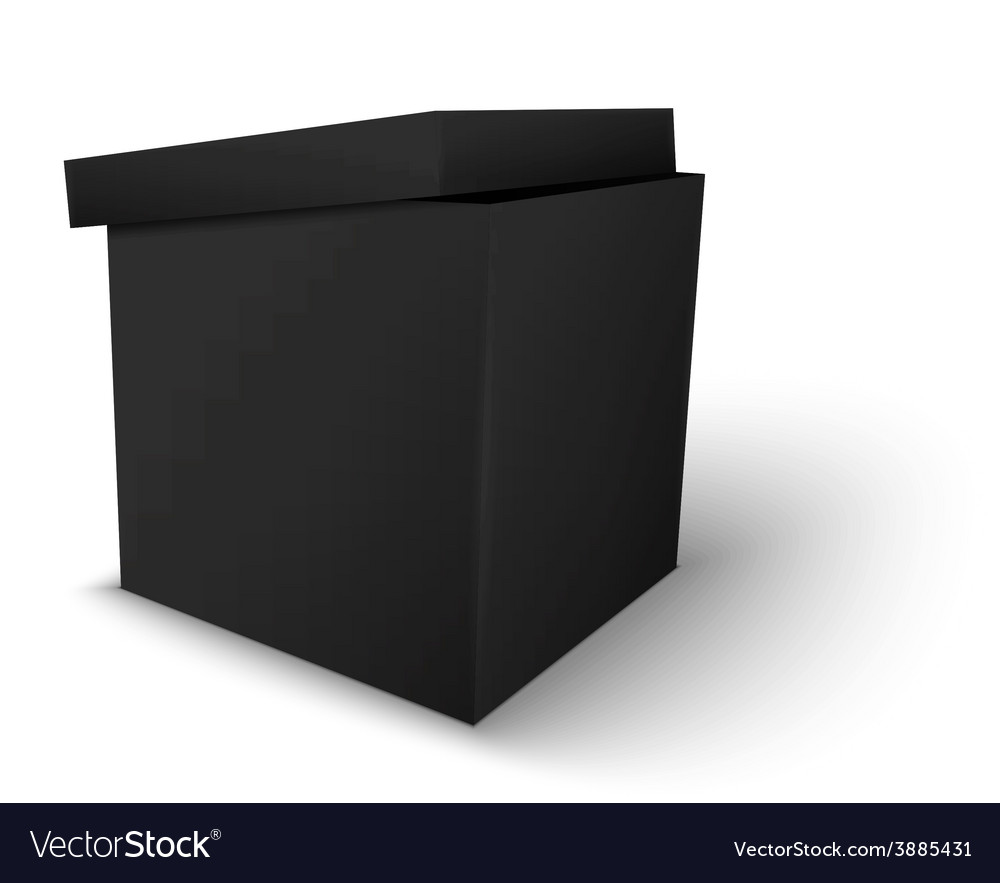 Black package box vector | Price: 1 Credit (USD $1)