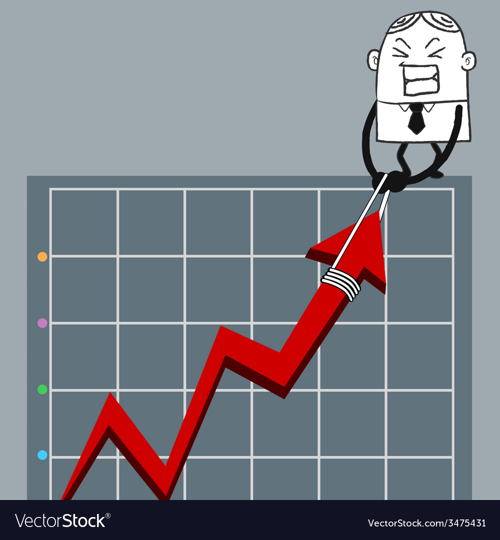 Busines man up graph vector | Price: 1 Credit (USD $1)