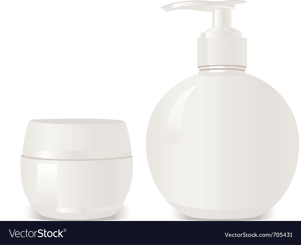 Cosmetics soap and gel containers vector | Price: 1 Credit (USD $1)