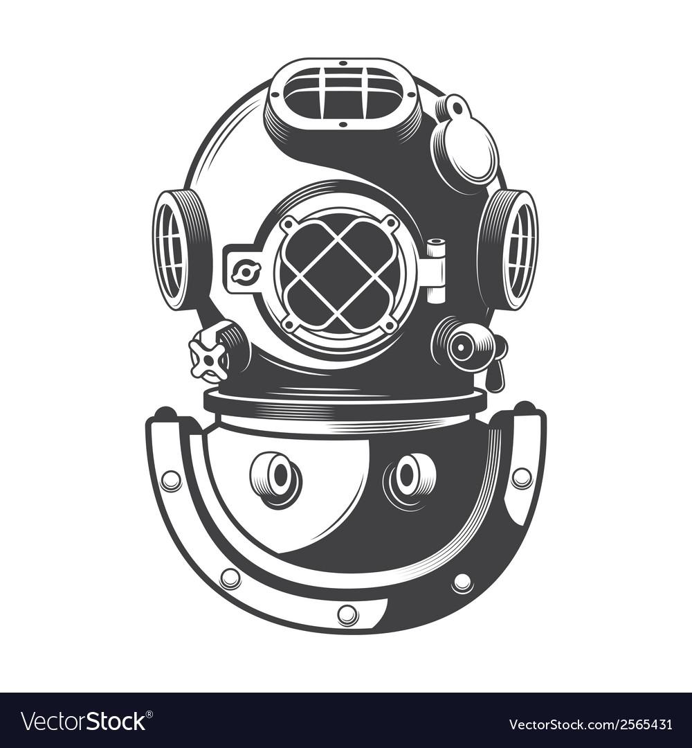 Diving helmet vector | Price: 1 Credit (USD $1)