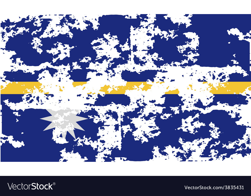 Flag of nauru with old texture vector | Price: 1 Credit (USD $1)