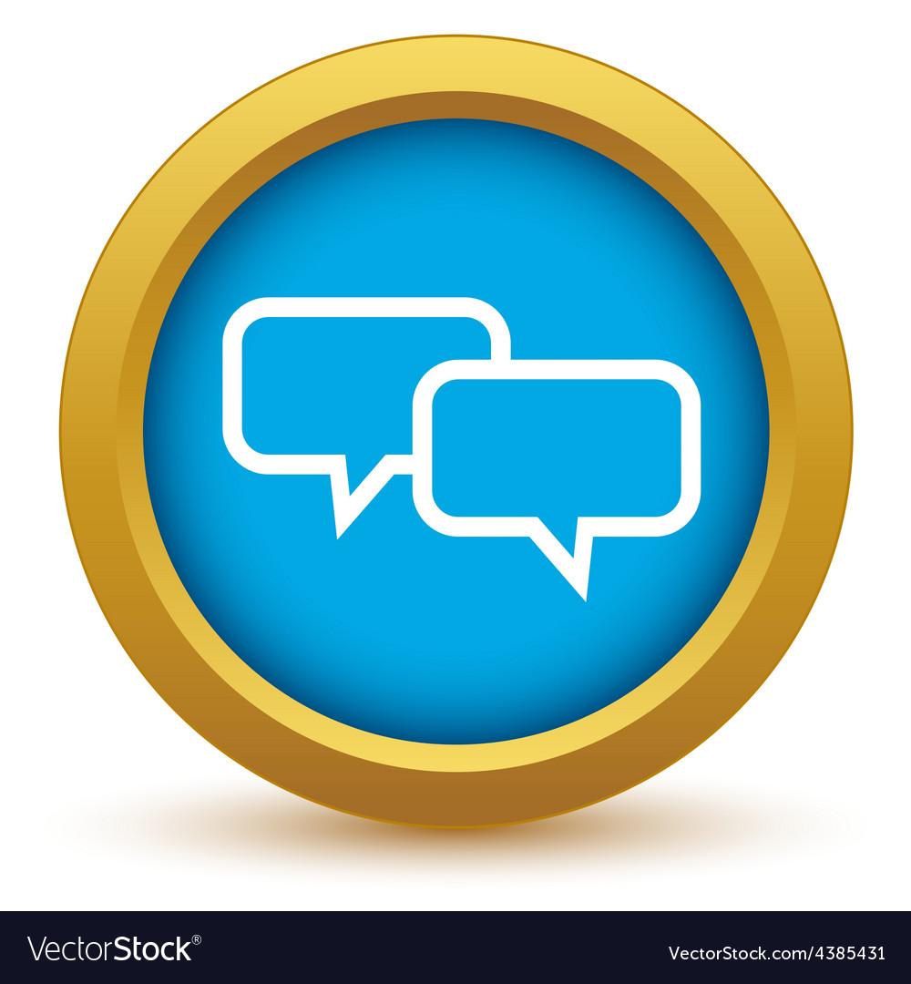 Gold conversation icon vector | Price: 1 Credit (USD $1)