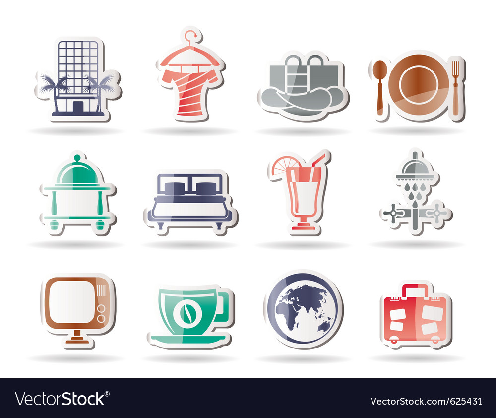 Hotel and holidays icons vector | Price: 1 Credit (USD $1)
