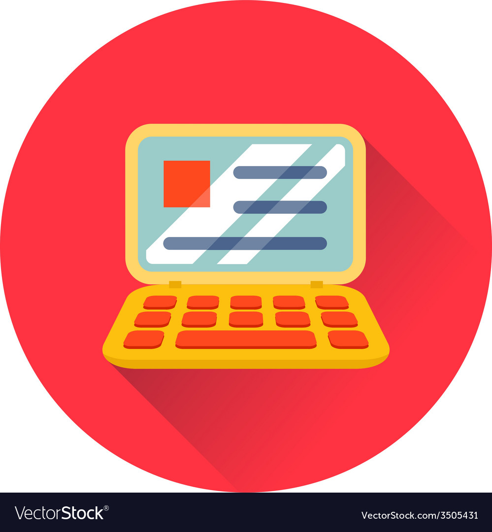 Laptop icon vector | Price: 1 Credit (USD $1)