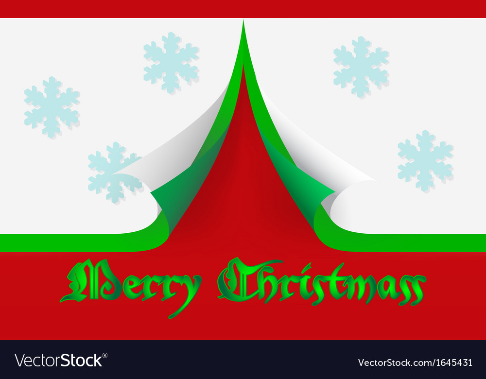 Merry christmass card vector | Price: 1 Credit (USD $1)