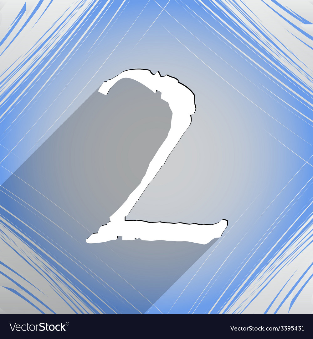 Number two icon symbol flat modern web design with vector | Price: 1 Credit (USD $1)