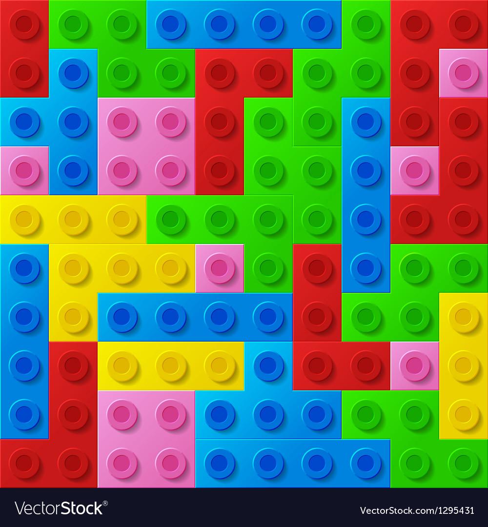 Plastic construction blocks vector