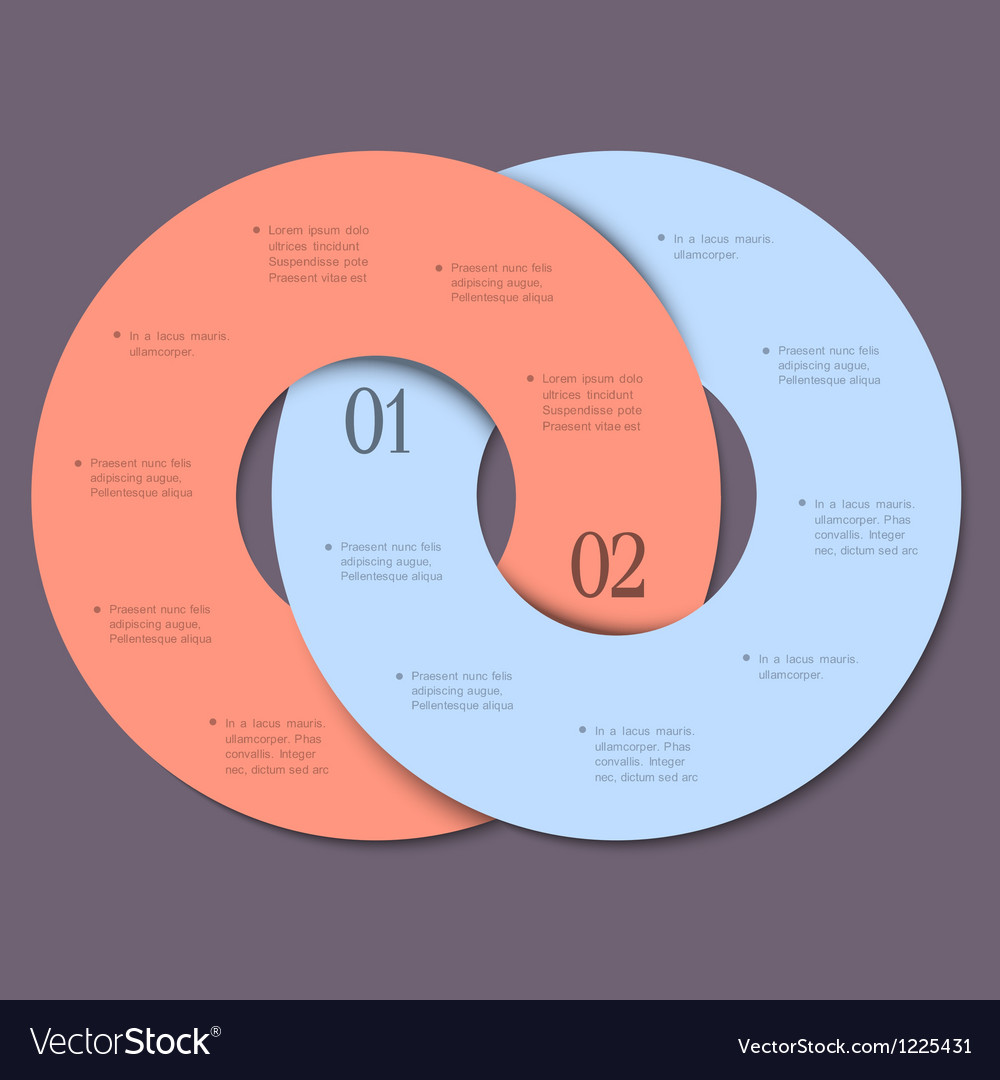Two circles trendy design template for vector | Price: 1 Credit (USD $1)