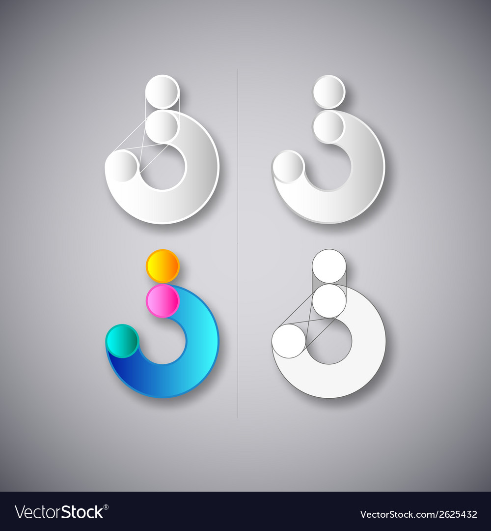 Abstract combination of letter s vector | Price: 1 Credit (USD $1)