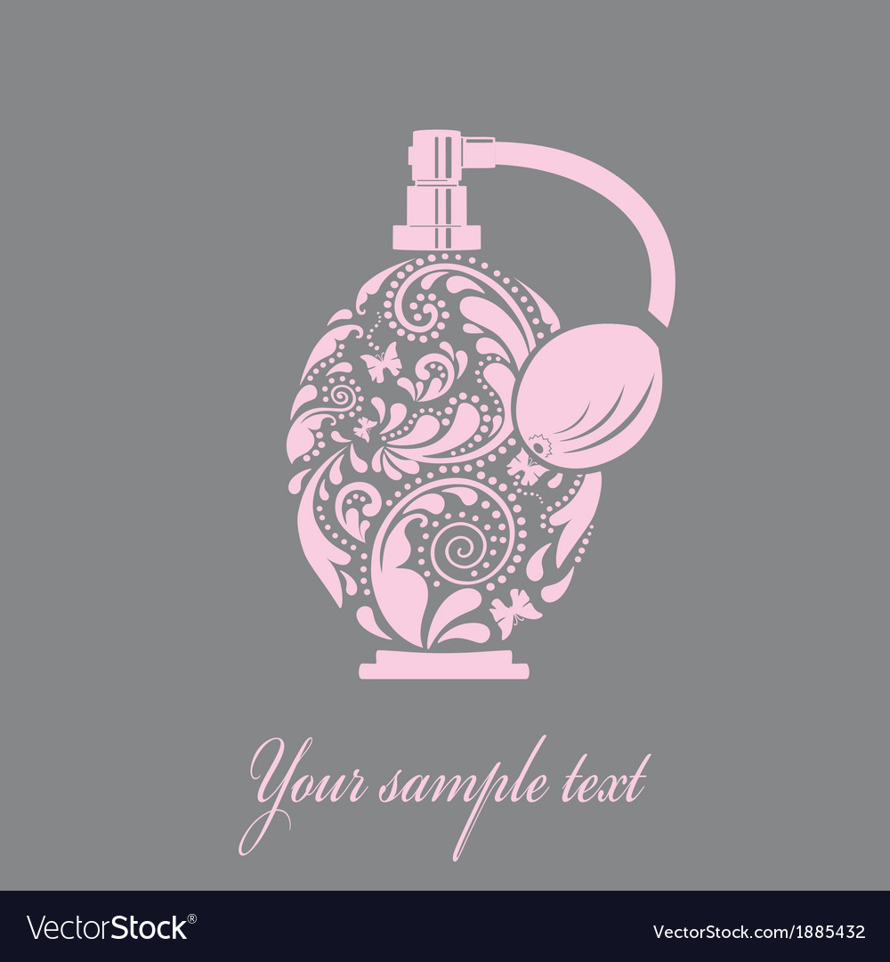 Beautiful perfume bottle made of the leaf pattern vector | Price: 1 Credit (USD $1)