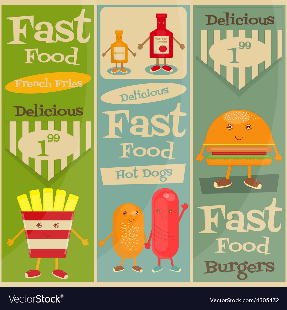 Fast food set vector | Price: 1 Credit (USD $1)