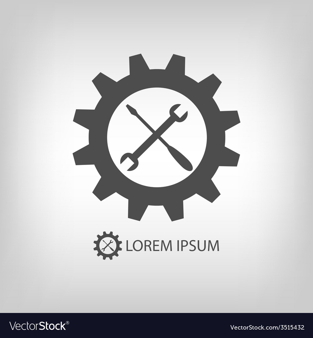 Gear wheel and tools as logo vector | Price: 1 Credit (USD $1)