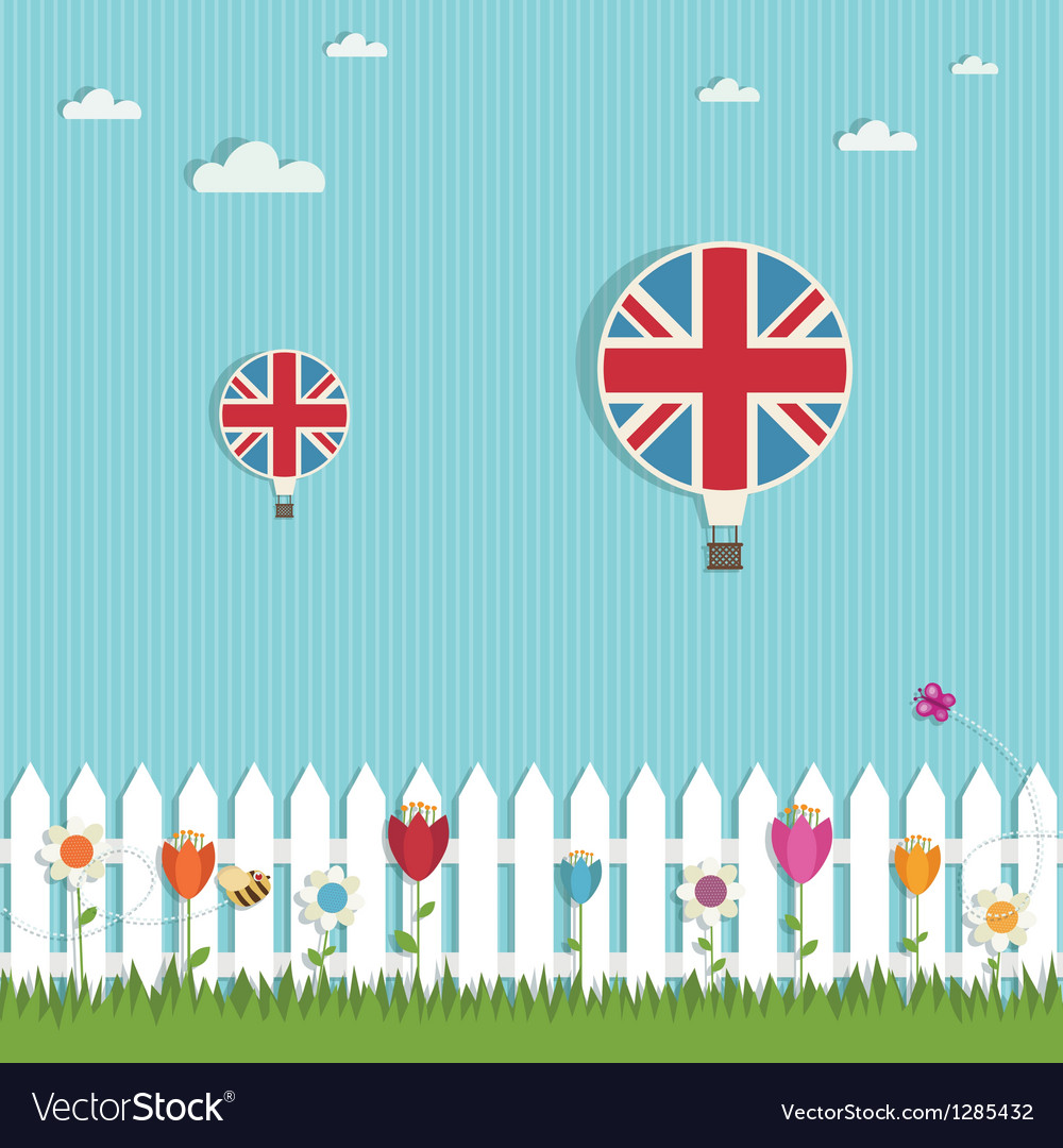 Great britain hot air balloons vector | Price: 1 Credit (USD $1)