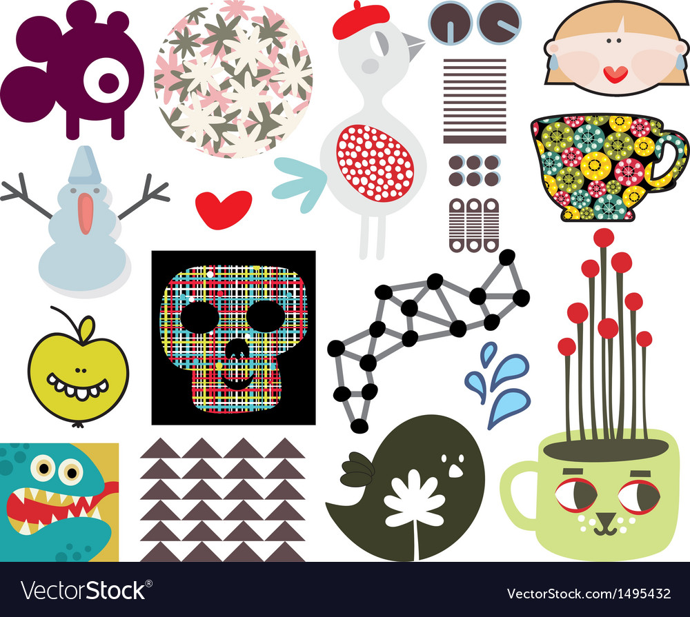 Mix of different images and icons vol67 vector | Price: 1 Credit (USD $1)