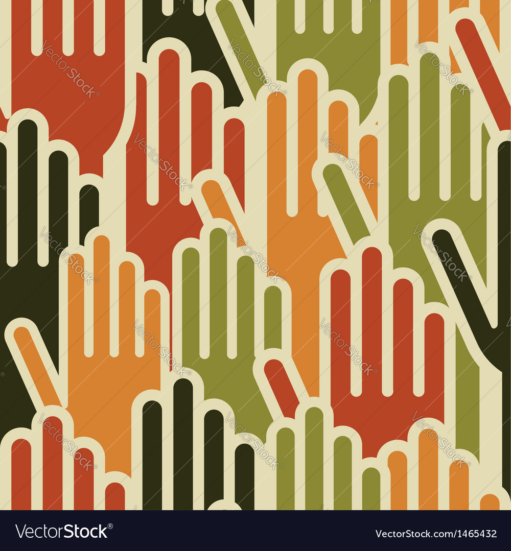 Multi-ethnic hands seamless pattern vector   Price: 1 Credit (USD $1)