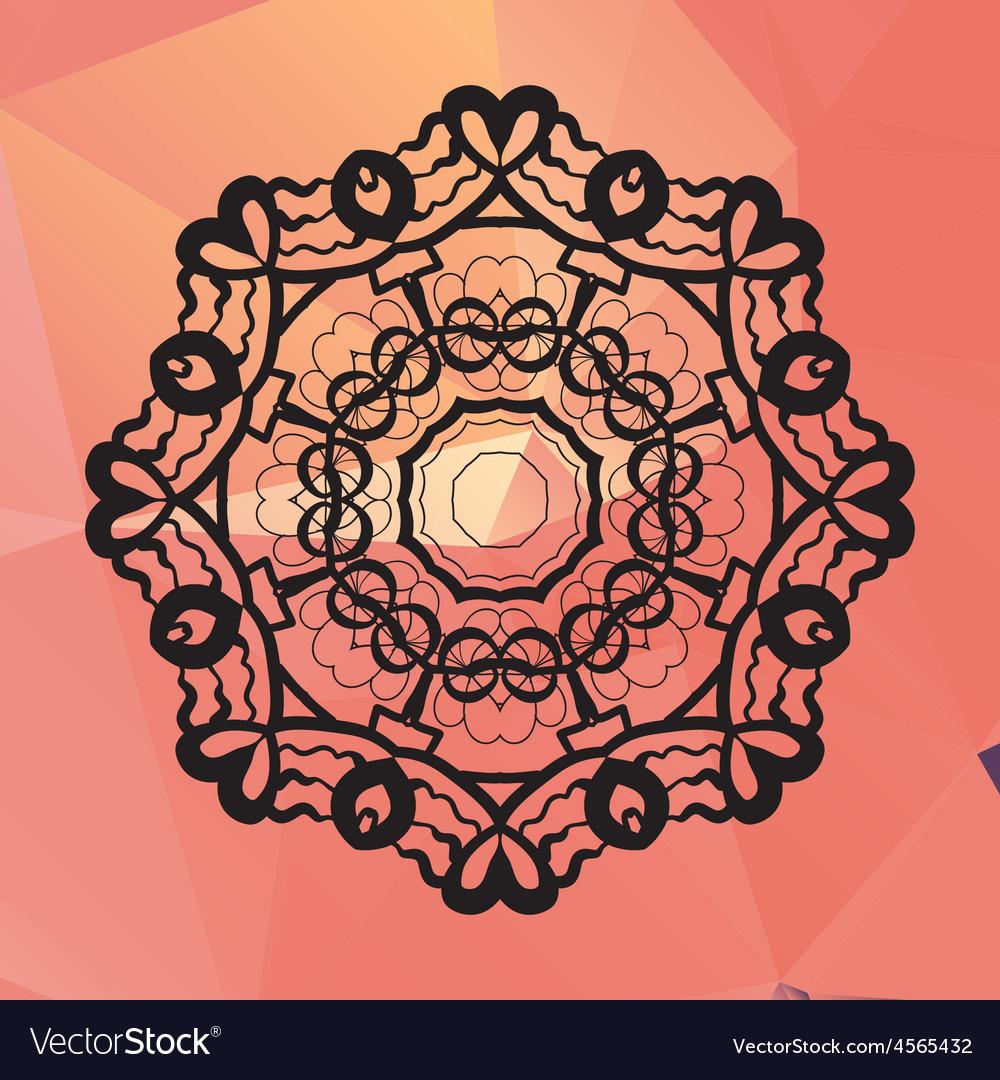 Ornament card with mandala like design geometric vector | Price: 1 Credit (USD $1)
