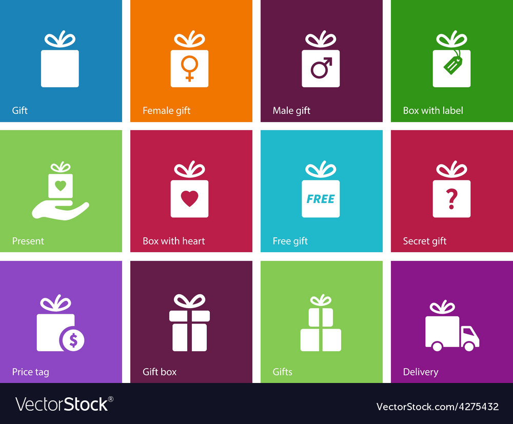 Present box on color background vector   Price: 1 Credit (USD $1)