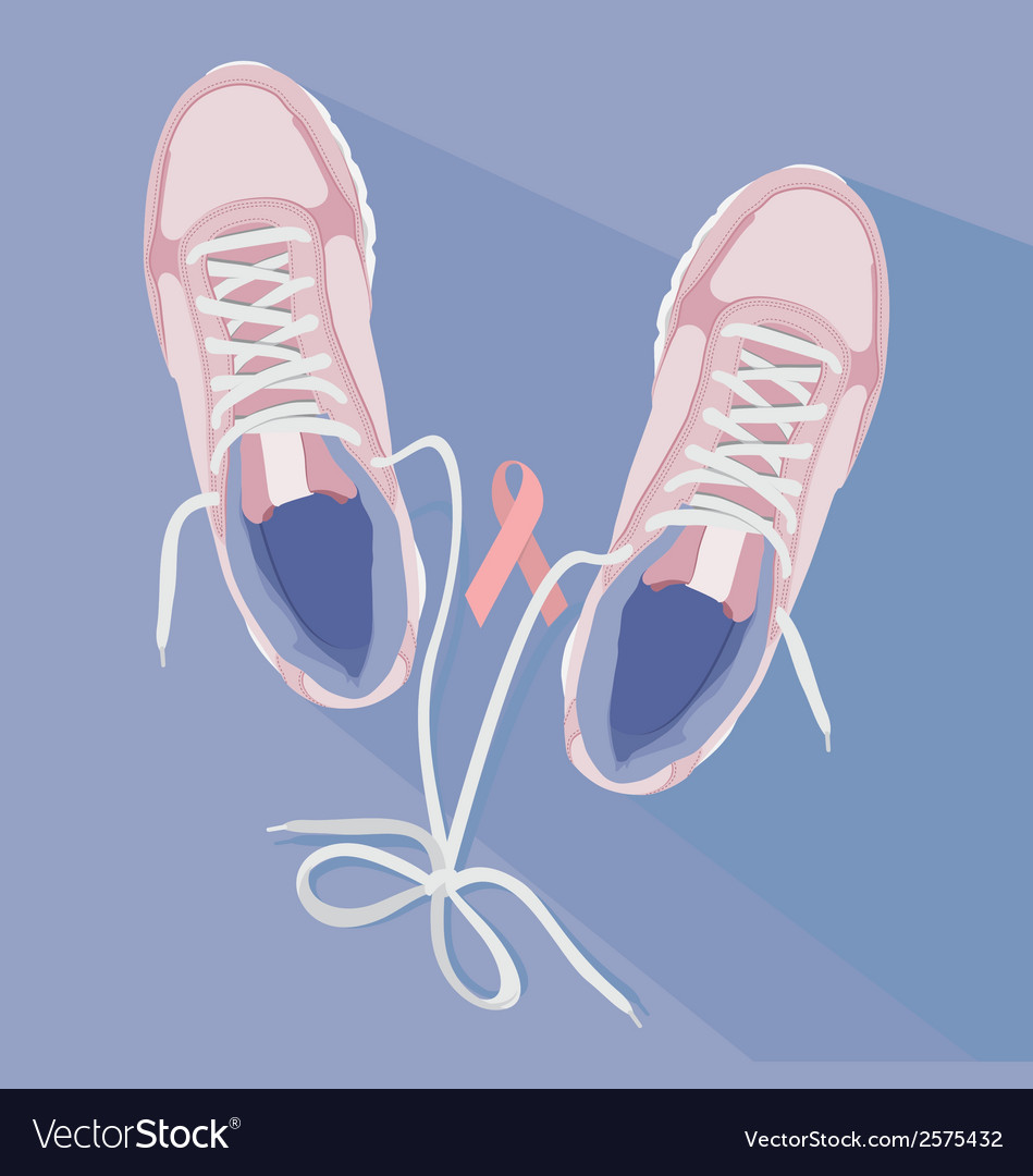 Running for the cure sneakers vector | Price: 1 Credit (USD $1)