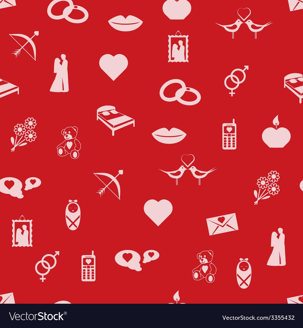 Seamless love pattern vector   Price: 1 Credit (USD $1)