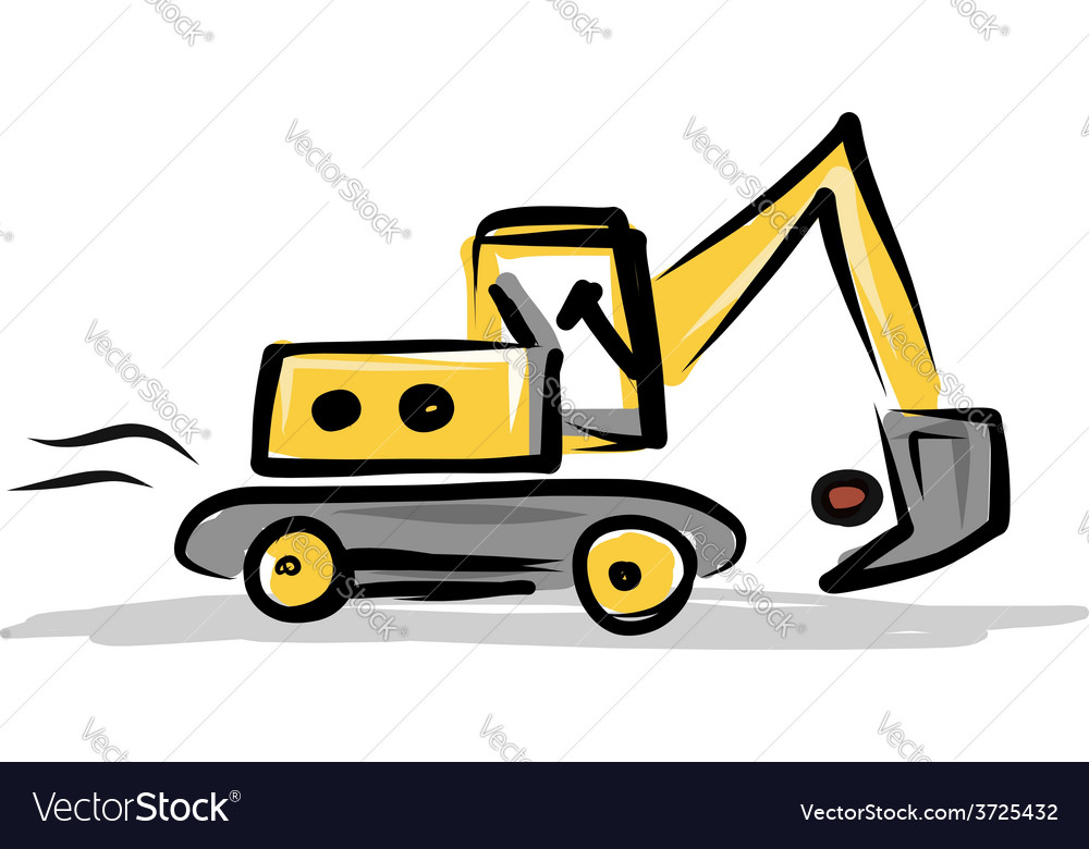 Tracked excavator construction equipment for your vector | Price: 1 Credit (USD $1)