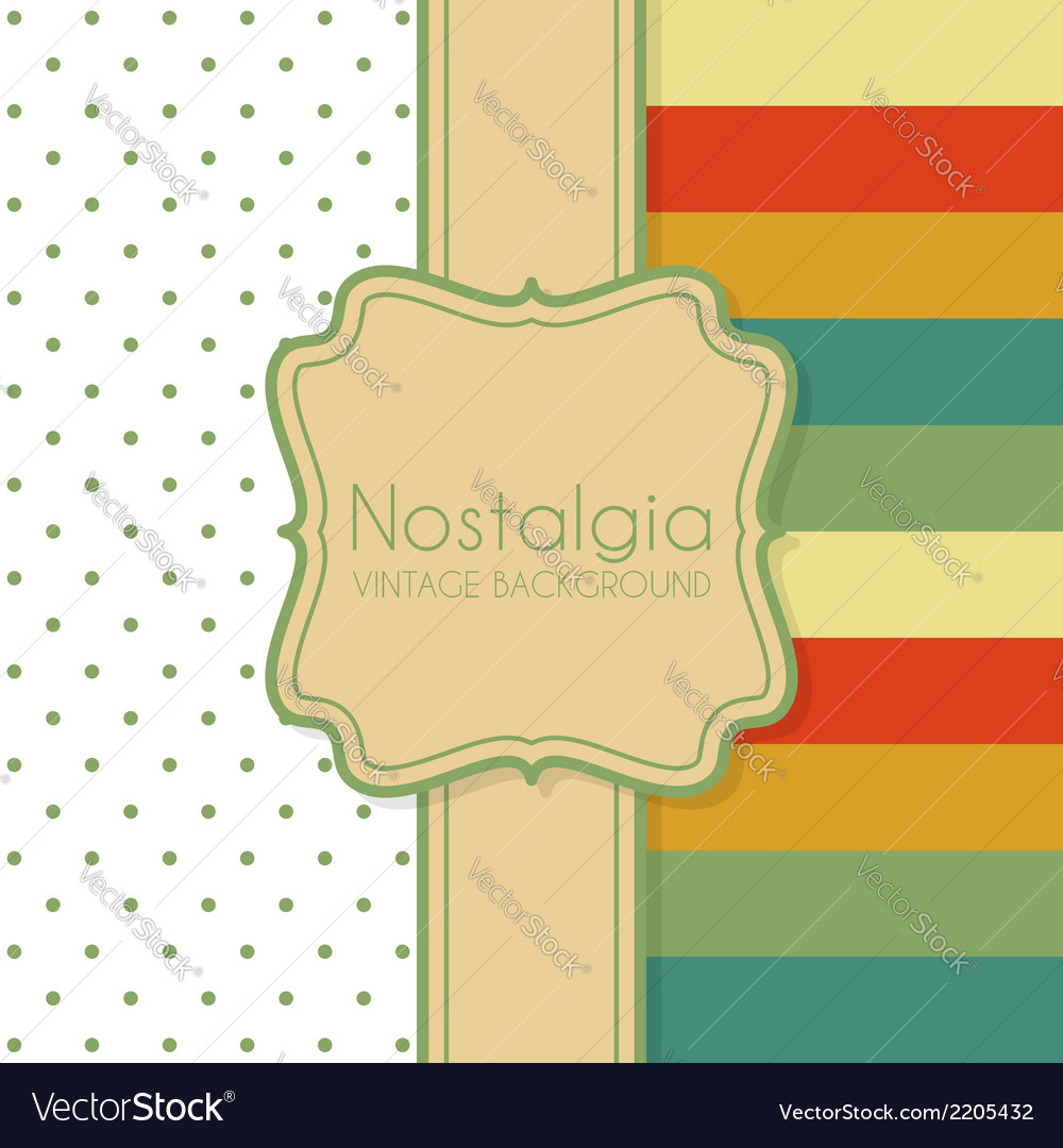Vintage background with frame vector | Price: 1 Credit (USD $1)