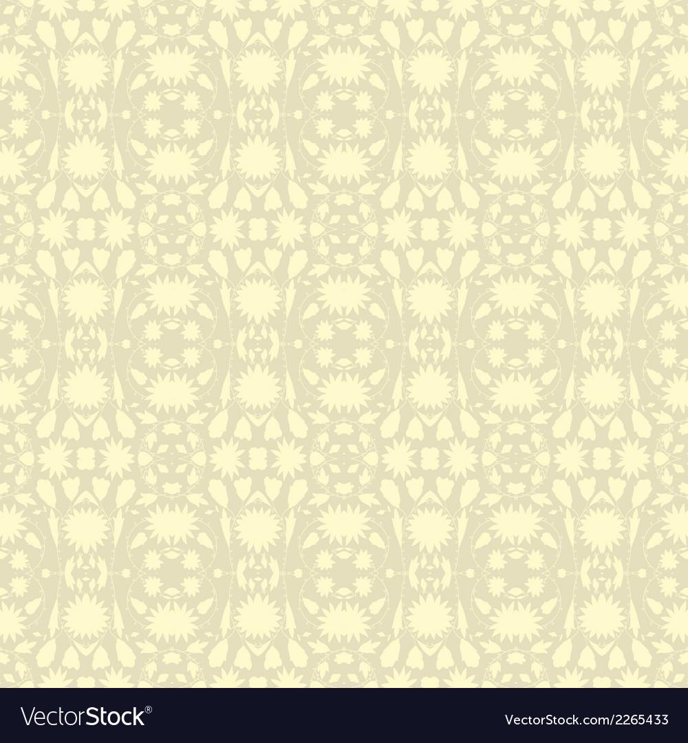 Beige floral wallpaper vector | Price: 1 Credit (USD $1)