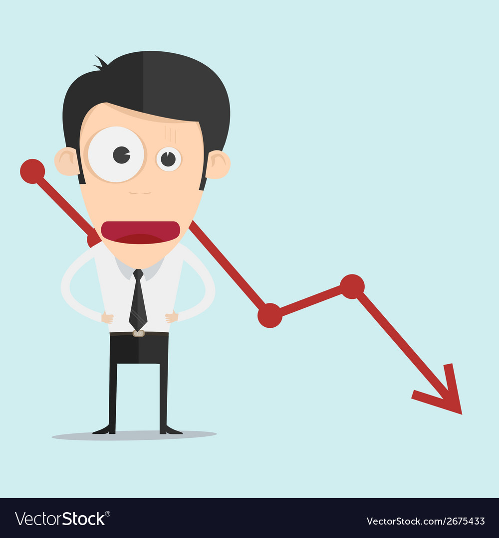 Business man with negative graph vector | Price: 1 Credit (USD $1)