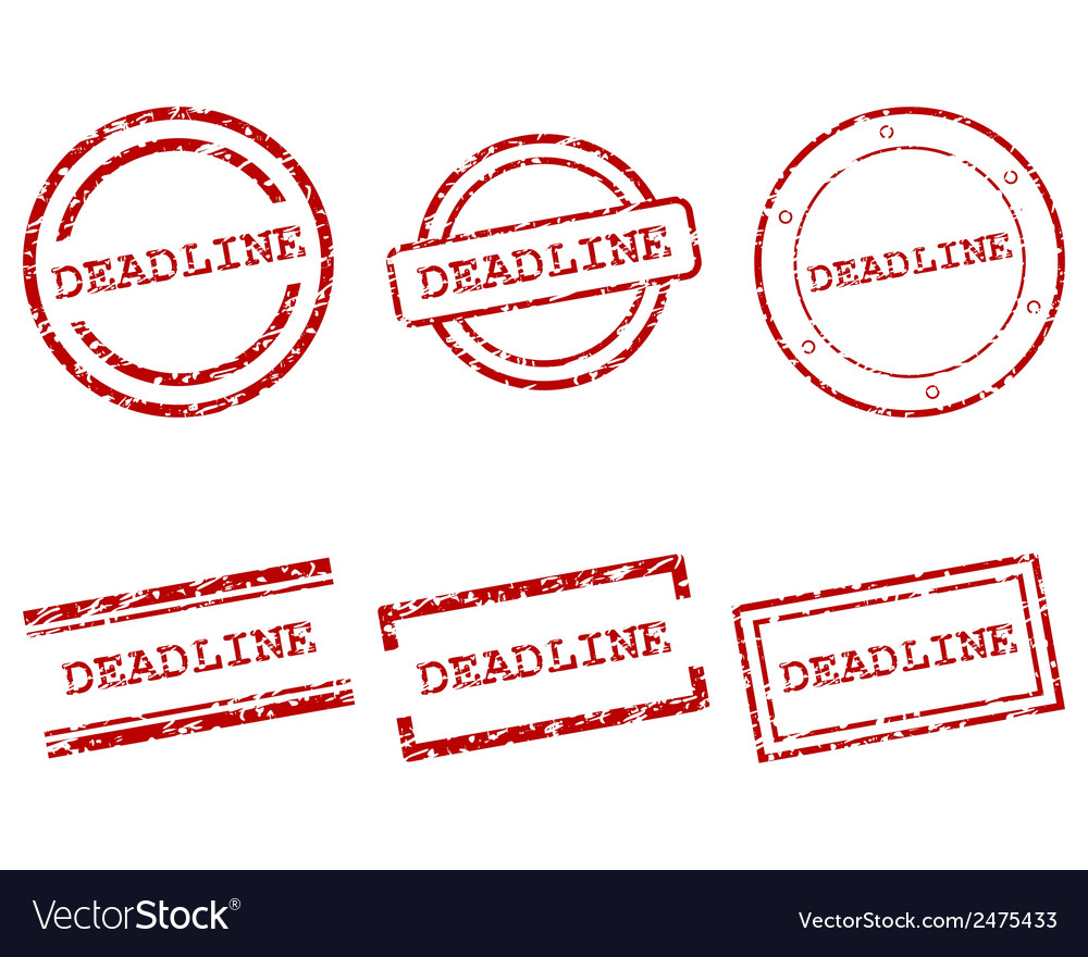 Deadline stamps vector | Price: 1 Credit (USD $1)