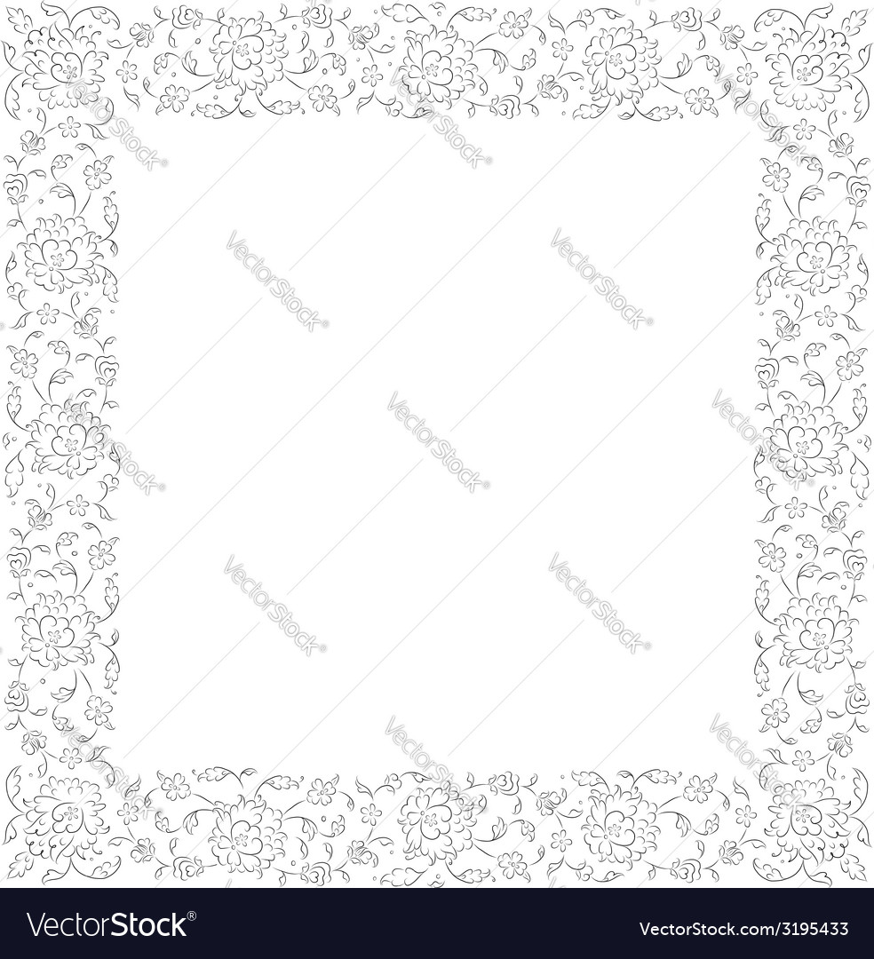 Floral vignette for your design vector | Price: 1 Credit (USD $1)