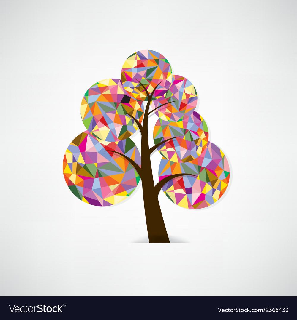 Geometric tree symbol vector | Price: 1 Credit (USD $1)