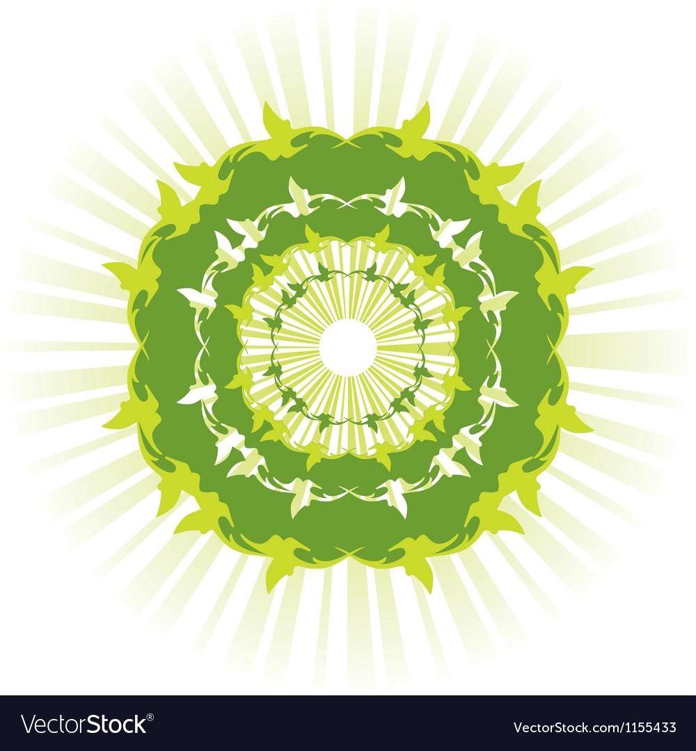 Green sun vector | Price: 1 Credit (USD $1)