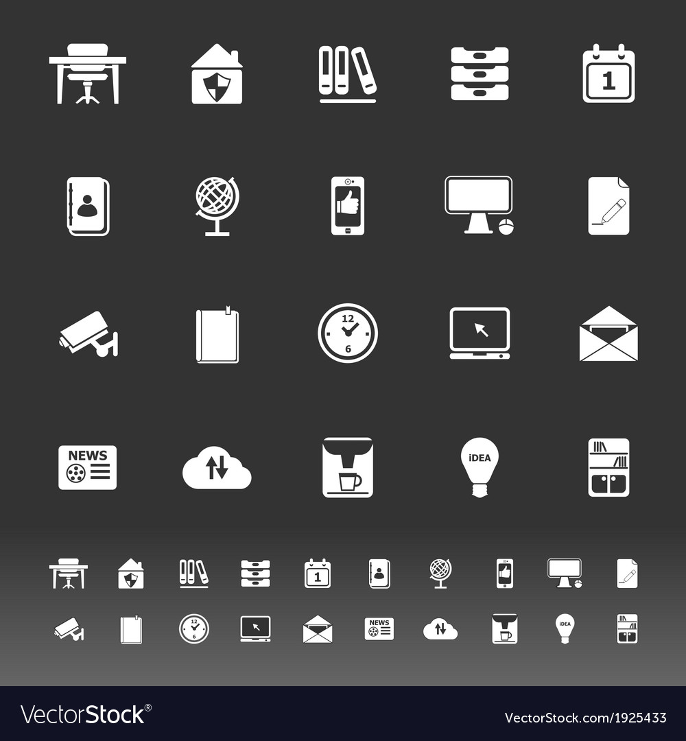 Home office icons on gray background vector | Price: 1 Credit (USD $1)